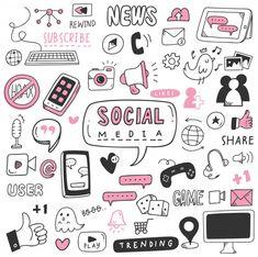 Social Media Wallpaper Information Technology - - Social Media Instagram, Social Media Art, Social Media Detox, Social Media Quotes, Social Media Design, Social Media Graphics, Social Media Marketing, Griffonnages Kawaii, Quotes Thoughts
