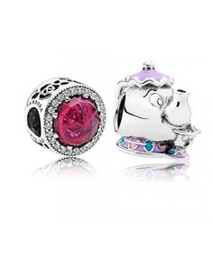 Pandora UK Mrs. Potts and Bell's Radiant Rose Crystals