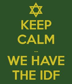 Thank you IDF for helping to watch over YISRA'EL!!  G-D's blessings upon you . . .