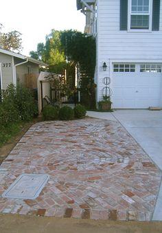 Brick driveway DIY:   http://benriddering.com/category/the-ridderings/brick-work/#