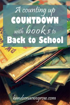 A countdown to get excited for back to school using books! A twist for preschoolers to do the countdown by counting up the days. Back To School Party, Back To School Hacks, School Parties, First Day Of School, School Fun, School Days, School Starts, School Stuff, Back To School For Preschoolers