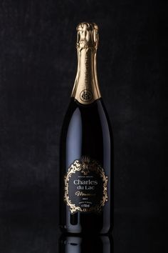 Sparkling Belgian Wine Label Design with Ornamental and Heraldic Elements / World Brand & Packaging Design Society