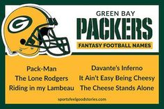 Green Bay Packers fantasy football team names button Nfc East Teams, 32 Nfl Teams, Colts Super Bowl, Super Bowl Wins, Cool Fantasy Football Names, Falcons Game, Football Team Names, Remember The Titans, Fantasy Team