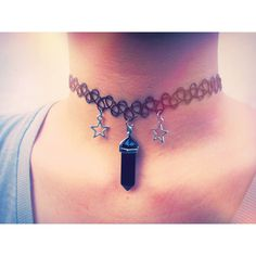 Black Crystal Choker 90s Grunge Tattoo Choker Punk Goth Pastel Grunge... ($15) ❤ liked on Polyvore featuring jewelry, necklaces, goth necklace, gothic jewelry, goth choker, choker necklace and crystal jewelry