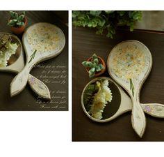 Diy Flower hand mirror by Tteuran
