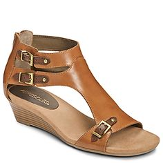 Comfortable low wedge sandals that still look up to date.