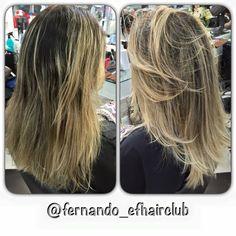 "Efeito ""Tartaruga / Multi-Tonalidades"" . Obrigado, Luana Matos pelo Carinho e Confiança!!   #efhairclub  #fabricadeloiras #opoderdasmechas #aquinosalao #amagiadascores #lourodesalao #autoridadeemmechas #cabelospoderosos #ombre #OmbreHair   #mechas #salao #cabelotop #balayage #luzes  #cutcolor  #highlights #salon #salonlife #instahair #hairstylist #hairpost #beautifulhair #moda #cabelos #divas #instaglam @fernando_efhairclub"