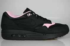 Cheap shoes Nike WMNS Air Max 1 women black pink HOT SALE! HOT PRICE!