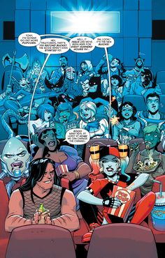 Harley Quinn is me at the cinema  - Visit to grab an amazing super hero shirt now on s