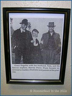 Grace Ingalls with her husband Nate Dow, right, and their nephew Harvey Thomas Dunn, brilliant artist/illustrator.