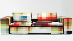 Maybe not for my home, but very cool...maybe for a cool office vibe.  pixel couch 35 of the Most Unique & Creative Sofa Designs
