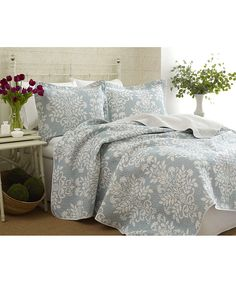 Laura Ashley Home Blue Rowland Quilt Set | zulily