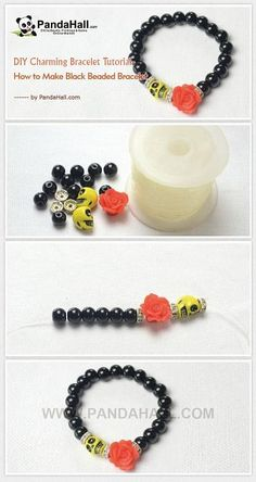 1ae7920d5258 DIY Charming Bracelet Tutorial - How to Make Black ...
