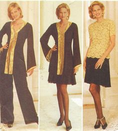 90s Chetta B Butterick Sewing Pattern 3801 Womens Evening Tunic, Top, Skirt and Pants Size 18 20 22 Bust 40 42 44 UnCut Plus Size Patterns by CloesCloset on Etsy