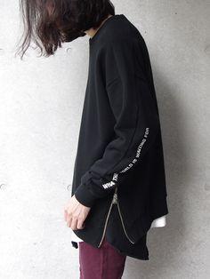 16AW wizzard ウィザード 新作 メンズ【返品可/即日発送】東京店よりお届け。<ラスト1点>wizzard | ウィザード // SIDE ZIP SWEAT <スウェット> - BLACK