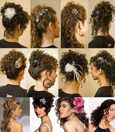 BEAUTY IN ACTION: Hairstyles for curly hair