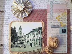 Uno de los primeros q hice, busque una foto de la antigua y use papel de embalar y lo recicle para las flores. Espero que os guste