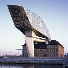 Port House by Zaha Hadid Architects Antwerp Belgium [1680X1680] [OS] via Classy Bro