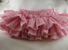 Ruffle Diaper Cover Sassy Pink and White Polka by SunKissedCuties, $19.99