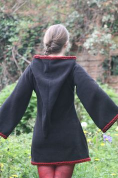 Gothic dress  Festival Elf Dress  Medieval Tunic with by tatoke, $90.00