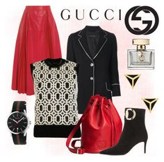 """""""Untitled #2053"""" by hastypudding ❤ liked on Polyvore featuring Gucci, Ariella Collection, gucci and fashionset"""