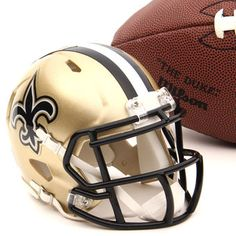 Riddell New Orleans Saints Gold Mini Speed Helmet