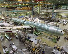 Production of the 767-400ER enters the final-body-join stage, when major parts are fastened to form the airplane.