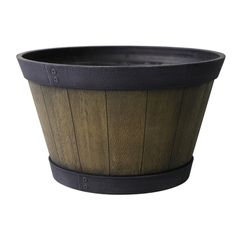 "20-1/2"" Aged Oak Whiskey Barrel (Front Patio) - $19.98"