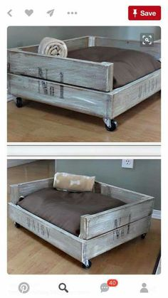 diy doggie bed…perfect comfy area just for Tilly in the living room! Blue pillow and yellow/green strips on the box! diy doggie bed…perfect comfy area just for Tilly in the living room! Blue pillow and yellow/green strips on the box! Diy Projects For Dog Lovers, Diy Pallet Projects, Home Projects, Carpentry Projects, Crate Bed, Palette Diy, Palette Dog Bed, Diy Dog Bed, Doggie Beds