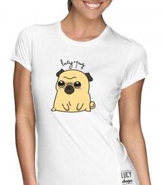 LucyPug tričko Cute Pug Animals And Pets, Youtubers, Celebrity, T Shirts For Women, Beauty, Fashion, Pug, Beleza, Moda