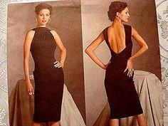 Sexy Deep V Back Vogue Dress Pattern Paris by PatternsFromThePast, $24.50