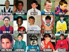 Los jugadores del mundial cuando eran niños... JAjaja