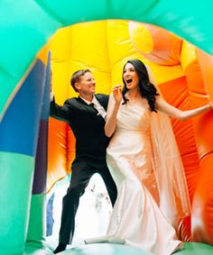 Guess where this adorable couple tied the knot?! (Hint: It's amazing)