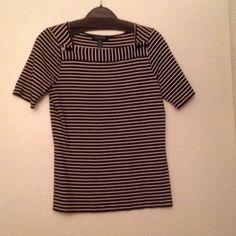Lauren Ralph Lauren Top A Brown/White stripes Top. 100% Cotton Ralph Lauren Tops Tees - Short Sleeve