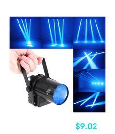 Stage Lighting: Single Units Ac 90-240 3W Led Rotating Spotlight Dance Party Dj Blue Stage Light Pinspot Lamp #ebay #Electronics
