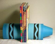 Hallmark Crayola Crayon Book Ends Child's Playroom