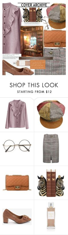 """""""Vintage library girls are fashionable,not just reading able!"""" by jelena-bozovic-1 on Polyvore featuring Roberto Cavalli, Sterling, Henri Bendel and vintage"""