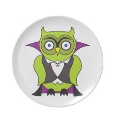 #Vampire #Halloween #Owl #Dinner #Plates $28.10