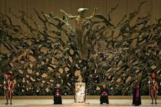 Leaked pictures from the Vatican show that Benedict XVI has built a throne for Satan, exact copy of the throne of the Devil in hell, at the Vatican. To cover their behinds, the Vatican says it's the resurrection of Jesus out of a nuclear blast, yah right! EXPOSED!