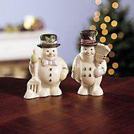 Snowman Salt & Pepper Shaker Set by Lenox