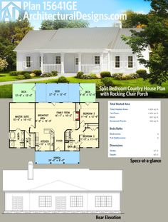 Plan 83896JW  Split Bedroom House Plan with Three Gables   Pinterest     Plan 83896JW  Split Bedroom House Plan with Three Gables   Pinterest    Square feet  Living spaces and Layouts