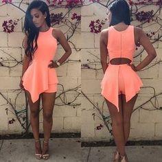286eacbfc Sexy Womens Lady Summer Beach Sleeveless Bodycon Party Evening Short Mini  Dress
