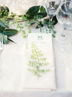 greenery table decor - photo by Erich McVey