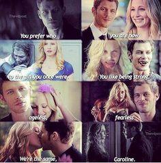#TVD #TO The Vampire Diaries,The Originals   Klaus & Caroline <3