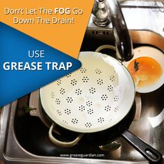 If a little grease goes down the drain, it can block the sewer line and cause disgusting backups. Grease Traps from Grease Guardian can reduce the blockage chances. Install Now! Kitchen Aid Mixer, Kitchen Sink, Grease, Tips, Greece, Counseling