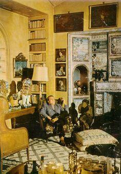 Luchino Visconti at home in Milan