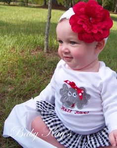 Alabama Elephant Onesie With TAIL and by BabyKaysBoutique on Etsy, $32.00
