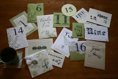 Found on Weddingbee.com  -  Really cute idea!  The bride made these with extra invitation/stationary samples.