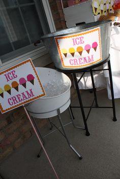 "Photo 1 of 42: Ice Cream and Lemonade / Summer ""Ice Cream and Lemonade Neighborhood Social""   Catch My Party"
