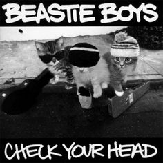 Beastie Boys - Check Your Head (Kitten Covers) Famous Album Covers, Classic Album Covers, Beastie Boys, Crazy Cat Lady, Crazy Cats, I Love Cats, Cool Cats, Favim, Cat Art